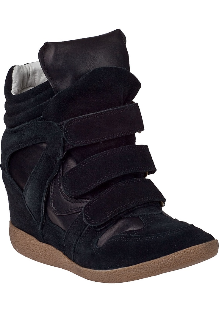 Steve Madden Shoes - Hilight Wedge Sneaker Black Suede