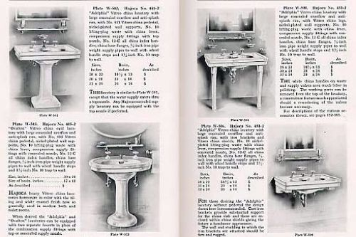 Bathroom catalog, from 1912-15. Illustration: 1912 bungalow.com