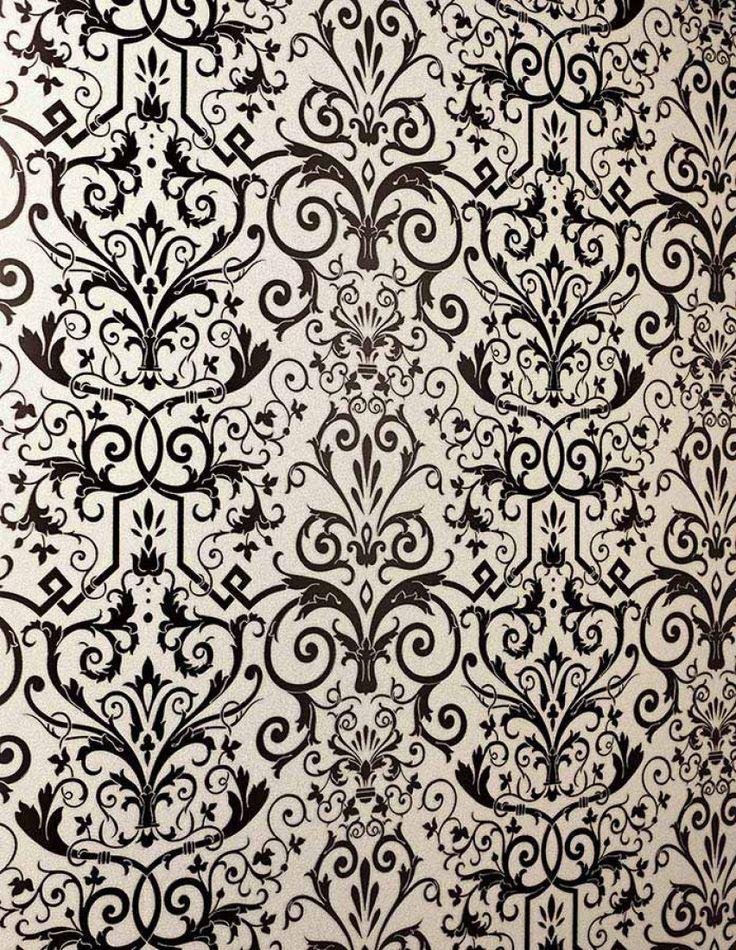Les 25 meilleures id es de la cat gorie papier peint baroque sur pinterest - Papier peint gris baroque ...