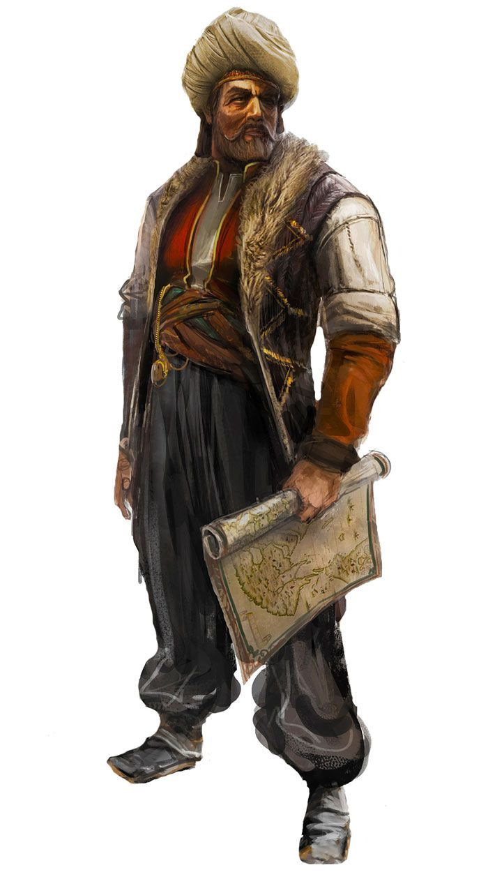 Piri Reis- Ottoman Turk admiral and chartographer whose charts reveal that rather more was known of world geography during Christopher Columbus's time than is commonly realized.