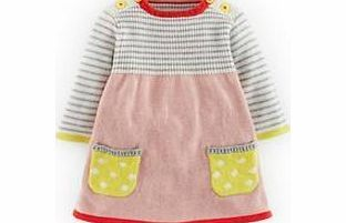 Mini Boden Sweet Knitted Dress, Provence Pink/Sunglow Now in new lovely colours and sweet spotty pockets. A cotton-cashmere mix which is comfortable and soft on young skin but washes well. http://www.comparestoreprices.co.uk/baby-clothing/mini-boden-sweet-knitted-dress-provence-pink-sunglow.asp