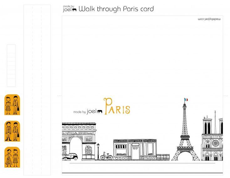 Gemaakt door Joel DIY Animated Walkthrough Parijs Kaart voor Valentijnsdag Craft Template