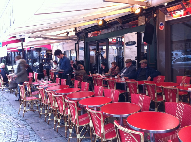 this, or any sidewalk cafe in paris