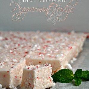 White-Chocolate-Peppermint-Fudge Recipe - RecipeChart.com #Christmas #Dessert #Holidays