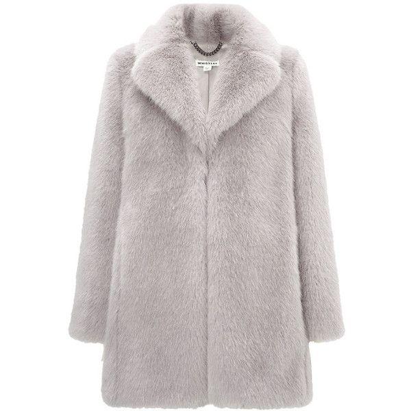 Whistles Kumiko Faux Fur Coat (38.270 RUB) ❤ liked on Polyvore featuring outerwear, coats, jackets, coats & jackets, lilac, faux fur coat, whistles coat, fake fur coats and imitation fur coats