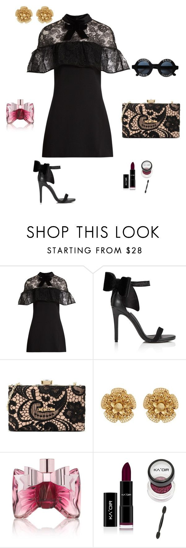Untitled #2 by kocze-eniko on Polyvore featuring self-portrait, Miss Selfridge, Love Moschino, Miriam Haskell, Chanel and Viktor & Rolf