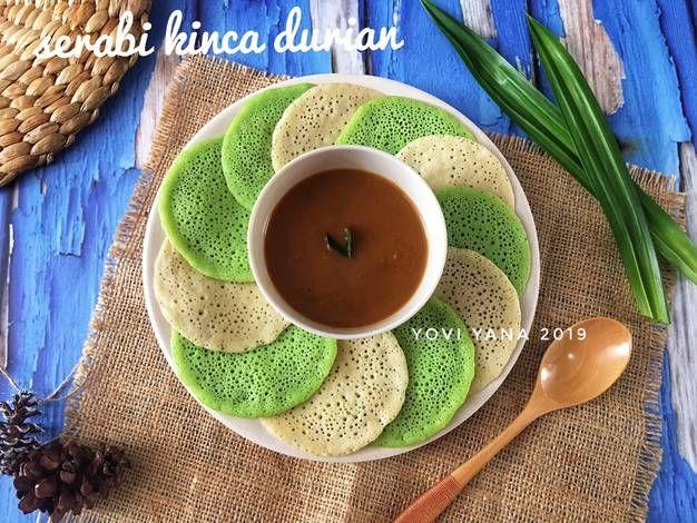 Resep Serabi Kinca Durian Oleh Yovi Yana Recipe In 2020 Durian Fruit Food