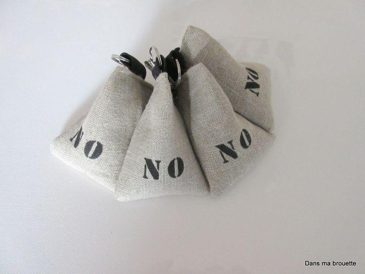 Poids de nappes en lin peinture textile - NO Noirmoutier - personnalisable : Accessoires de maison par dansmabrouette
