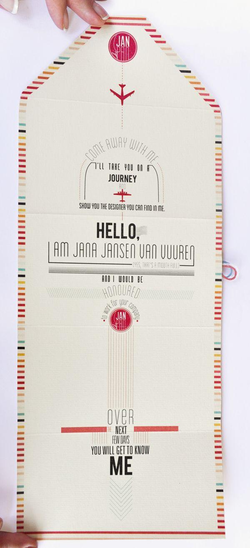 Self Promotion _Direct Mailer by Jana Jansen van Vuuren, via Behance
