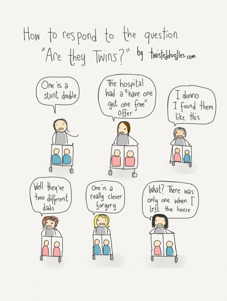 Twisted Doodles • How to respond to the question 'Are they twins?'