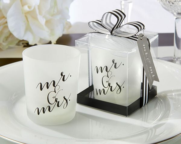Classic Mr. and Mrs. Votive (Set of 4) By Kate Aspen