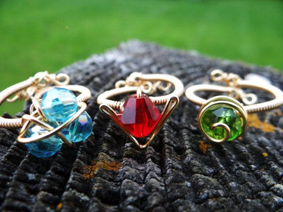 The Legend of Zelda Three Ring Set on Etsy, $60.00