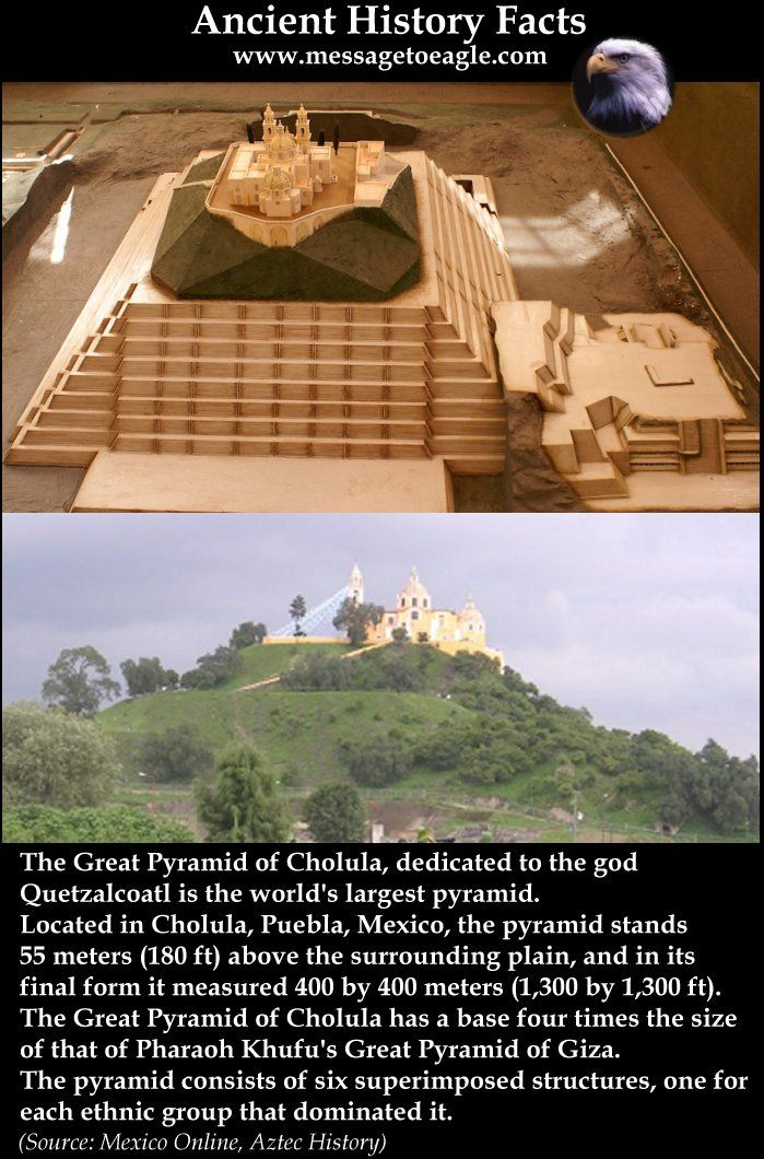 Great Pyramid of Cholula: World's Largest Pyramid. Ancient History Facts great Pyramid of Cholula