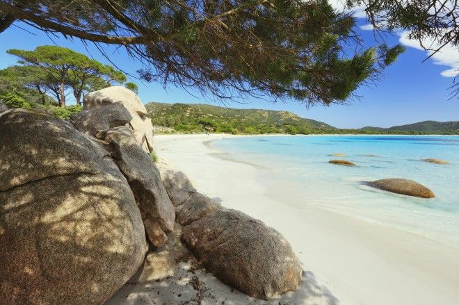 Relax on a beach in Corsica