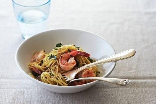Quick Shrimp Scampi – Add steamed or boiled crisp vegetables for an extra nutritional kick.