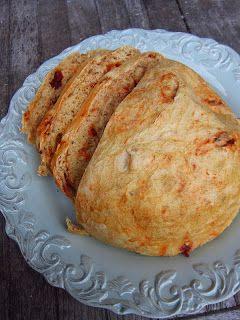 Sundried Tomato Artisan Bread; baked this for the second time this evening. Ohhhh...so good! The first time I made paninis with what was left the 2nd evening with ham and swiss. Yummm!!!