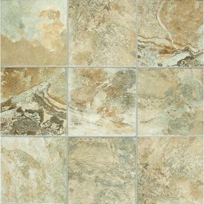 Folkstone Slate Sandy Beach 6 In X 6 In Ceramic Wall