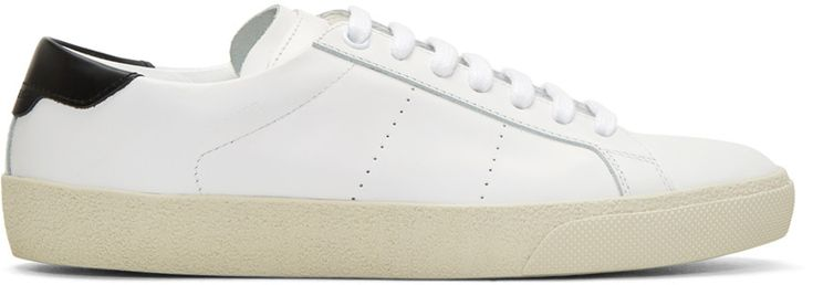 Saint Laurent White Court Classic Sneakers $595