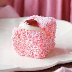 Baby-pink lamingtons