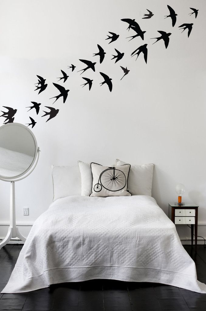 Charmant Swallow Birds Vinyl Wall Stickers