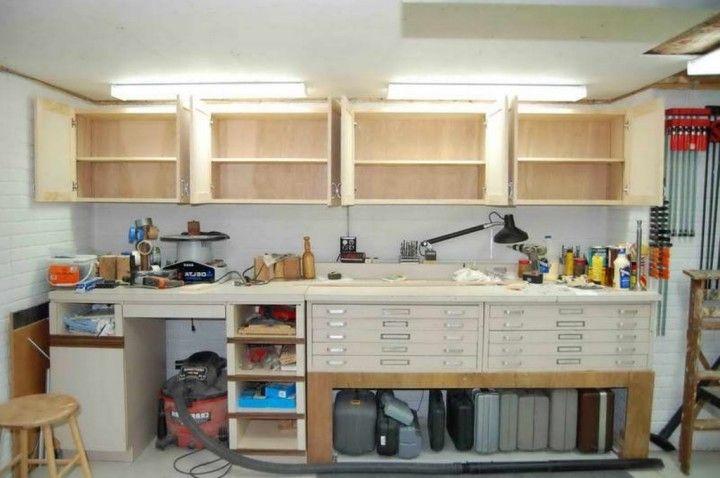 awesome bathroom cabinet storage ideas | Awesome Diy Overhead Garage Cabinet Storage Ideas Made ...