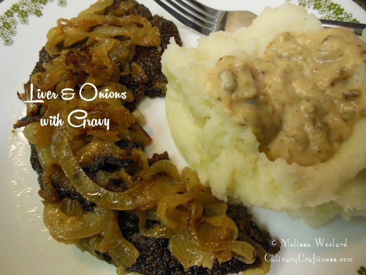 how to cook liver and onions in gravy