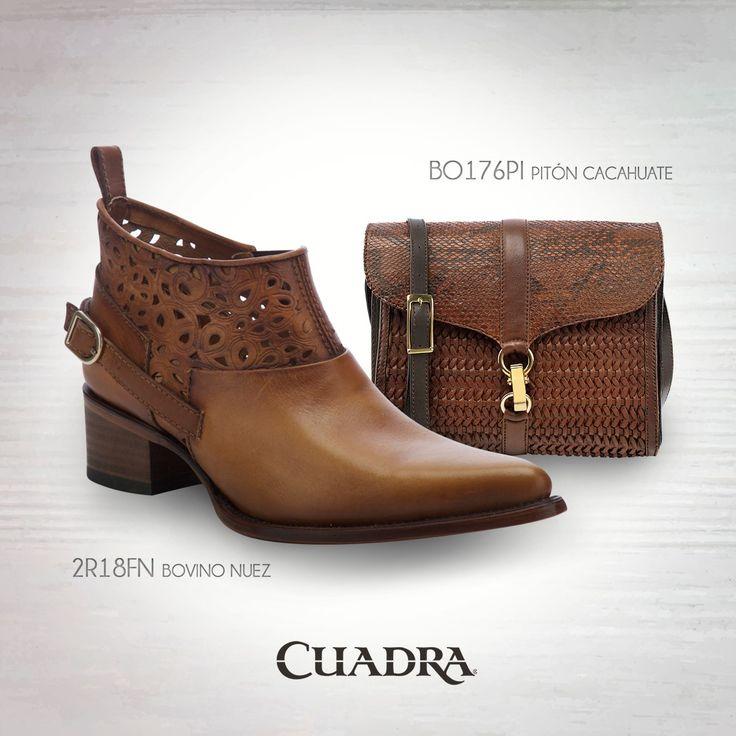 Un #bolso #CUADRA es tu mejor aliado. #Botines #Botas #Boots #Bags #Western