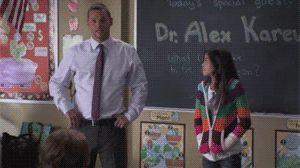 """Once at home, Lily was asked to share the best part of her experience with her 4th grade class. Lily brought Dr. Karev."" --> BEST part of grey's ever"