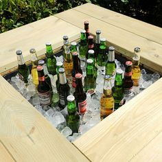 Image result for garden ice bucket table