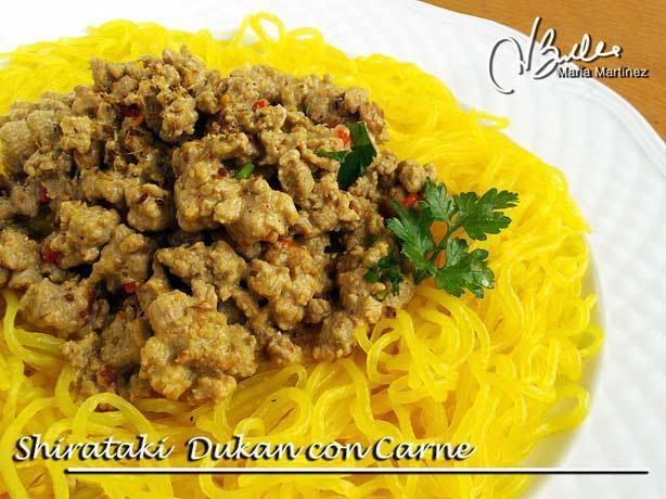 Fideos Shirataki Dukan con salsa de carne