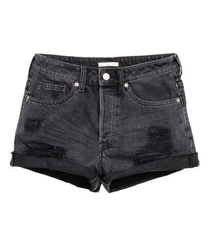 Trashed denim short | Product Detail | H&M