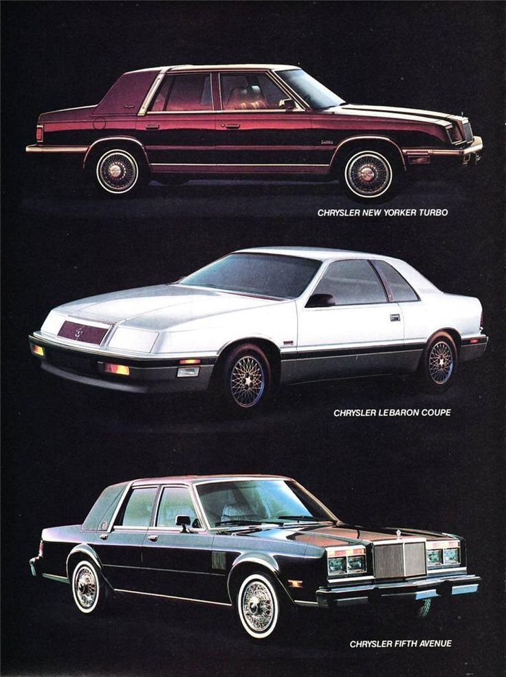 old print 1988 chrysler new yorker lebaron fifth. Black Bedroom Furniture Sets. Home Design Ideas