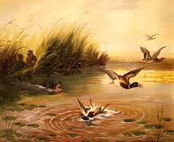 Картинки по запросу картины охота на уток