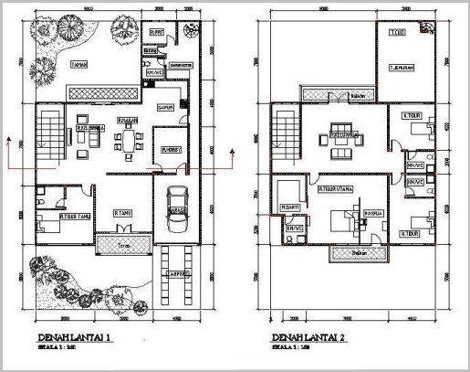 Image Result For Denah Rumah Minimalis Kamar Lantai