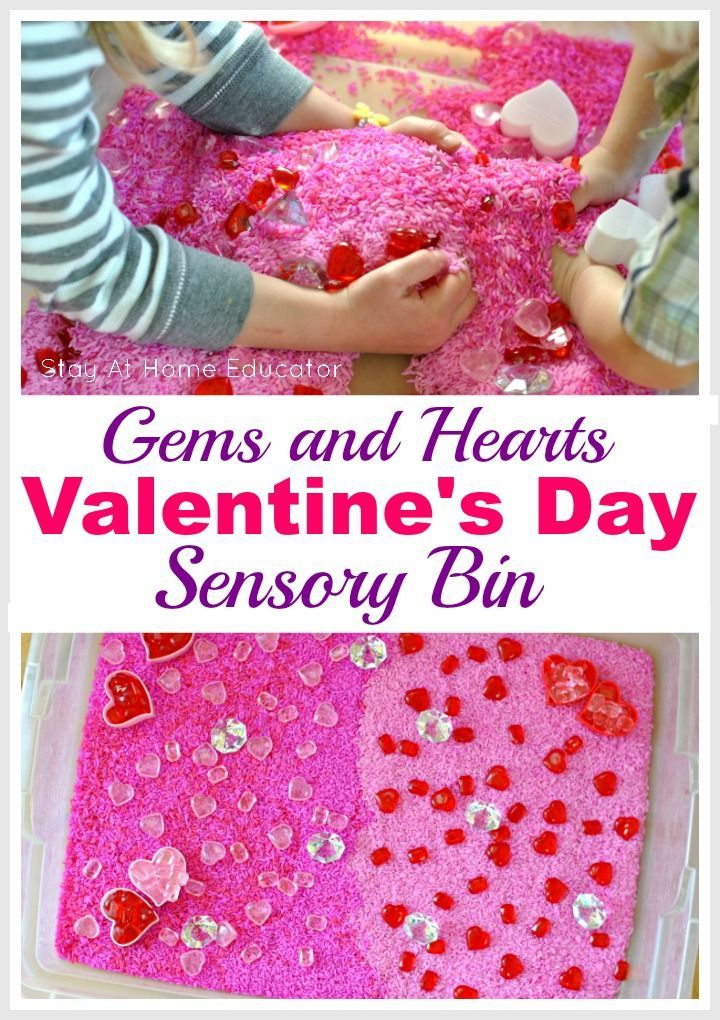 Gems and Hearts Valentine's Sensory Bin