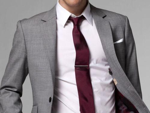 Grey Suit | Burgundy Tie | Shirt and tie combinations ...