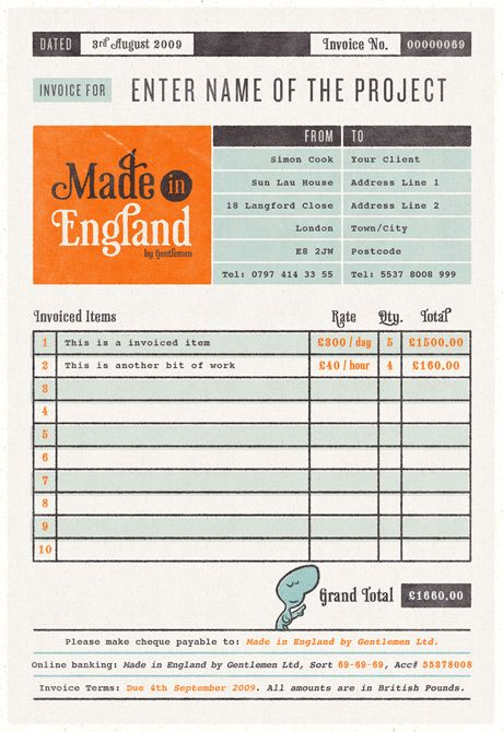 12 best Invoice\/Quote Layouts images on Pinterest Invoice design - free quote form template