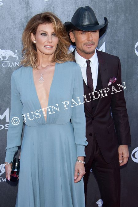 Faith Hill and Tim McGraw at the 49th Annual Academy Of Country Music Awards at the MGM Grand Garden Arena on April 6, 2014 in Las Vegas, Nevada.