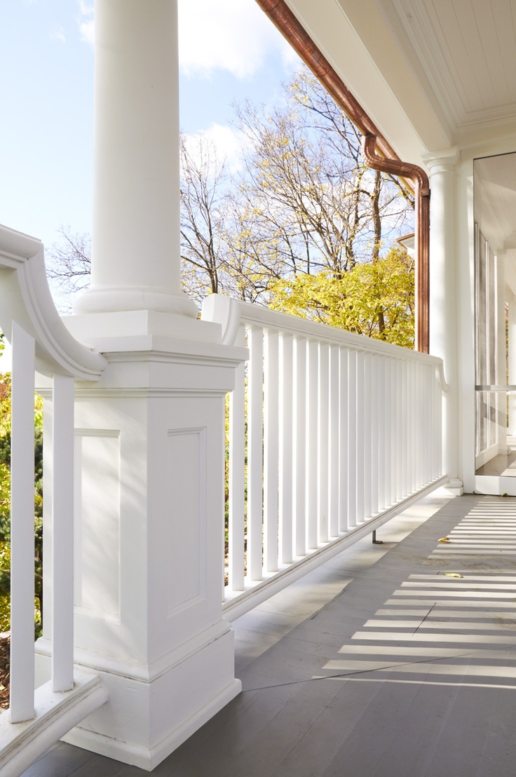 Front porch ideas traditional porch los angeles - Square Columns With Great Baluster Find This Pin And More On Front Porch Ideas