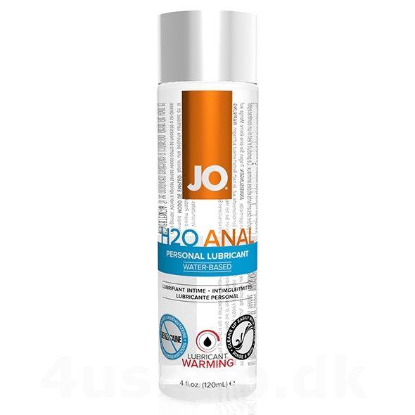 JO vandbaseret anal glidecreme med varme effekt i 120 ml flaske - gør jeres analsex frækkere med denne nye dimension - denne anal glidecreme varmer ved krops kontakt - det skal prøves! #analglidecreme #analsex #anal #h2oanal #jo #systemjo #lubricant #lube #anallube