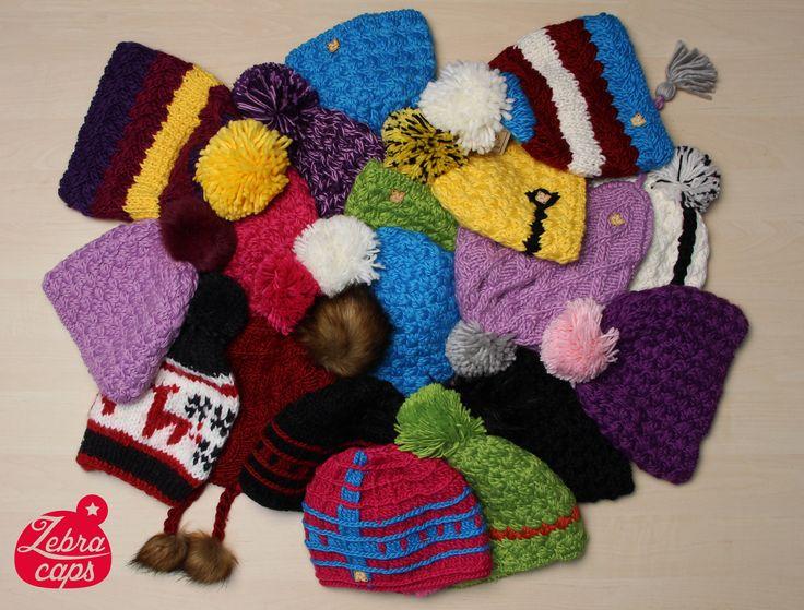 Kulichy a čepice všech barev, ručně pletené, od belgického výrobce HERMAN