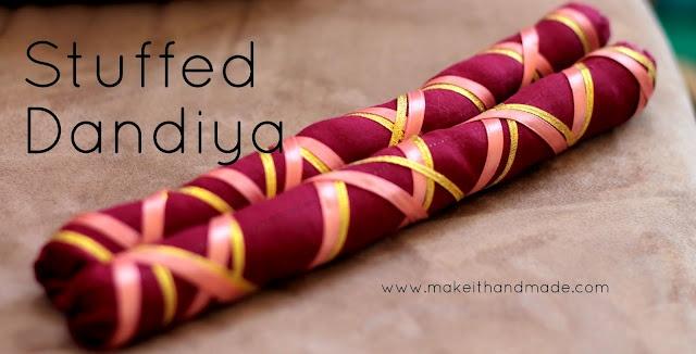 how to make paper dandiya sticks
