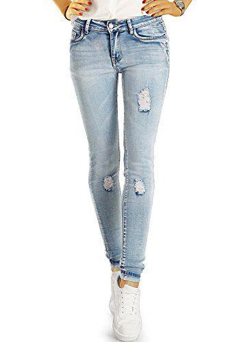 d7125b7949b4 BestyledBerlin Pantalon en Jean Femme Jean Slim fit Taille Basse j81e Neu  40 L