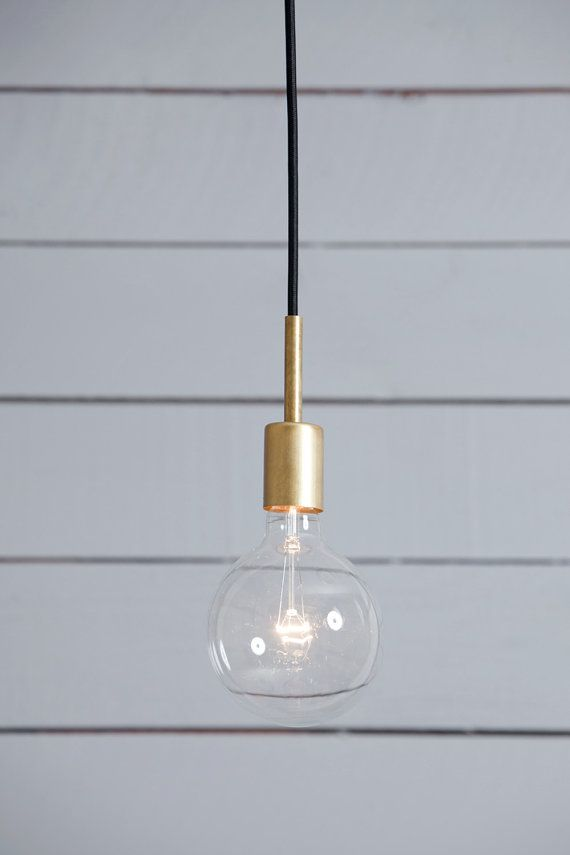 Brass Pendant Light  Mid Century by IndLights on Etsy