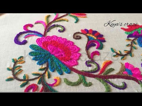 Kashmiri/kashida embroidery (part-2) - YouTube
