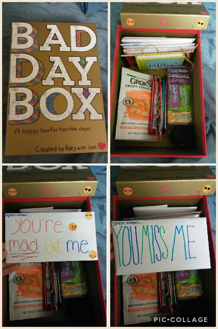Bad Day Box!! Perfect gift for your boyfriend/girlfriend/etc. whether you live f…