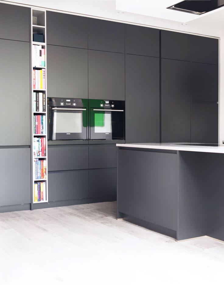Lava black handleless kitchen