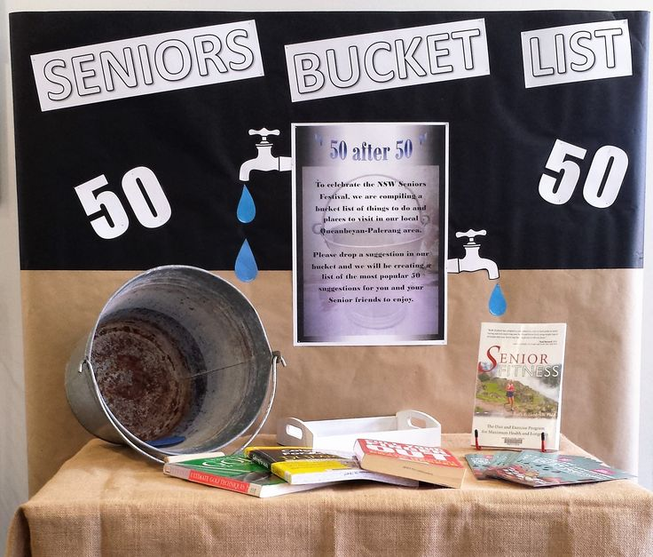 Seniors Local Bucket List Display Queanbeyan Library