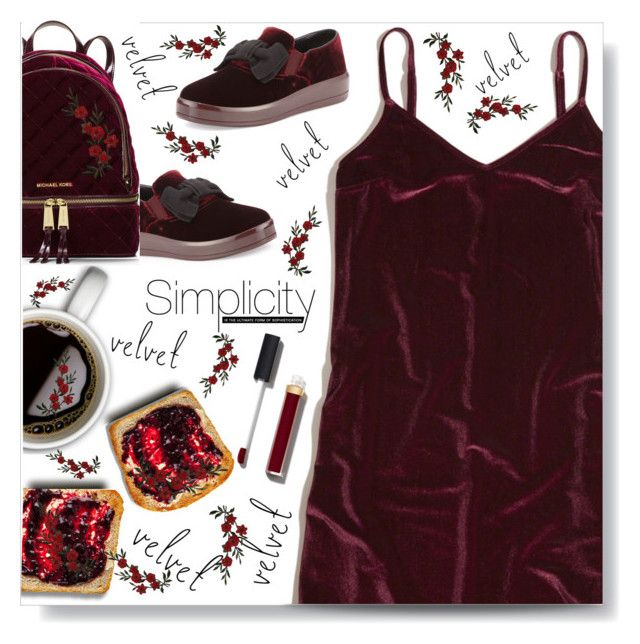 """#728 #velvet"" by wonderful-paradisaical ❤ liked on Polyvore featuring Hollister Co., Prada Sport, MICHAEL Michael Kors, Chanel and velvet"
