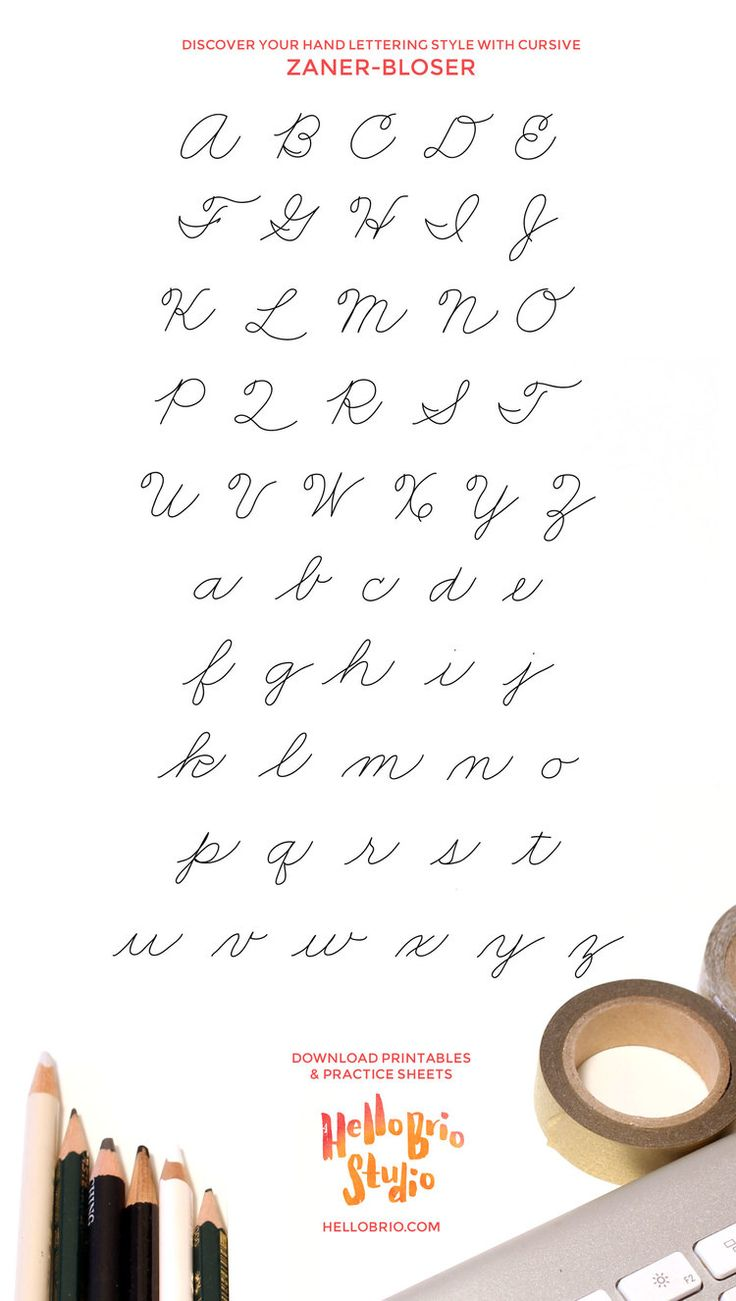 Mejorar la escritura a mano y encontrar su estilo de letra cursiva con la mano tradicional - Zaner-Bloser